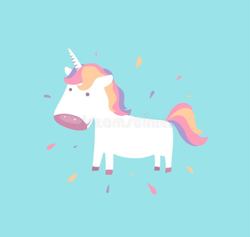 милый единорог Пони младенца для fairy животной концепции Ребенок Пегас бесплатная иллюстрация