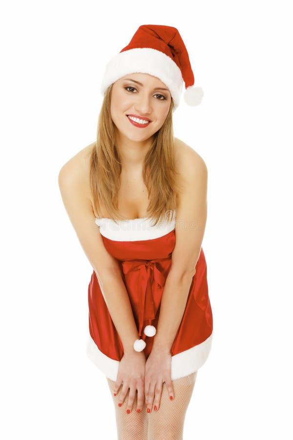 милый женский santa стоковые фото