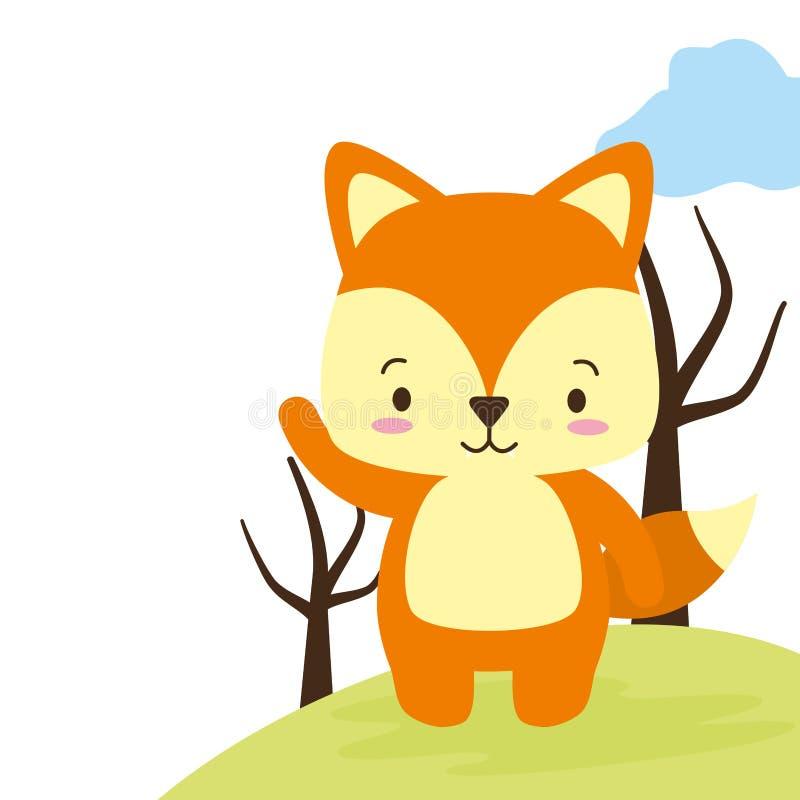 Милый животный шарж иллюстрация вектора