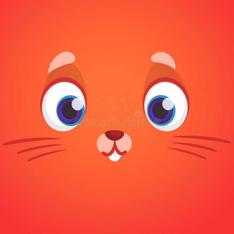 Милый животный шарж стороны лисы Изолированная иллюстрация вектора Персонаж из мультфильма для книг детей иллюстрация вектора