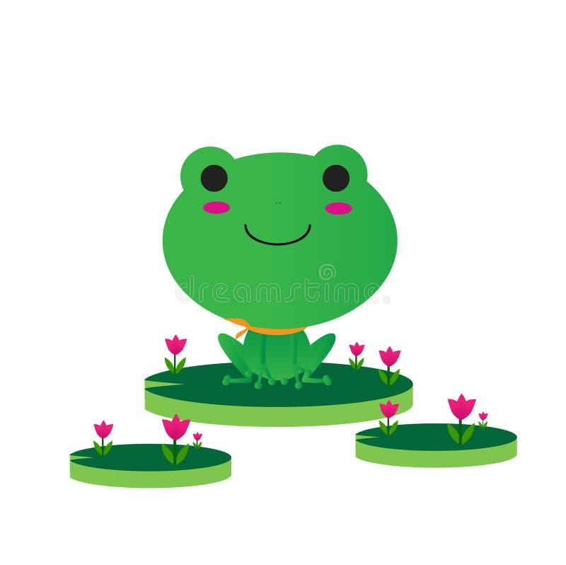 милый зеленый цвет лягушки бесплатная иллюстрация