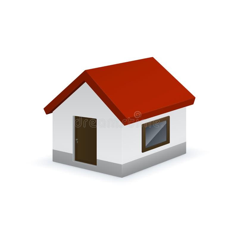 Милый значок дома бесплатная иллюстрация