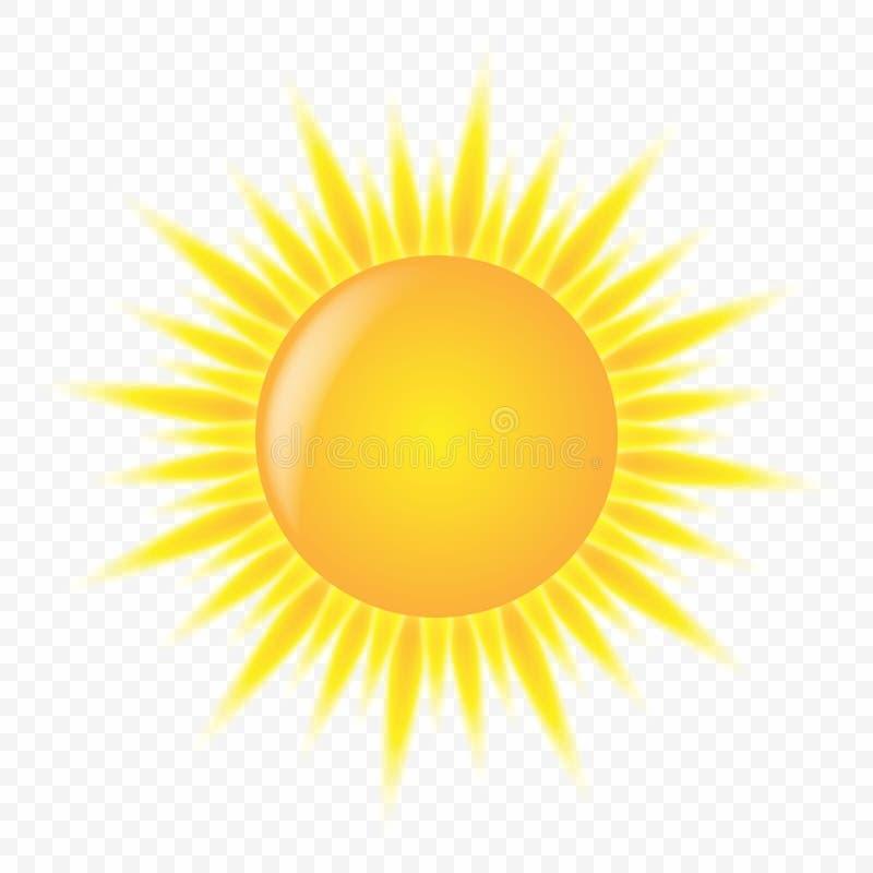 милый значок солнца 3d иллюстрация вектора
