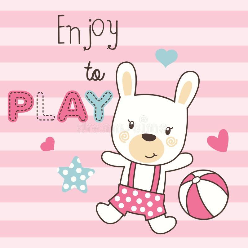 Милый играть кролика стоковые фото