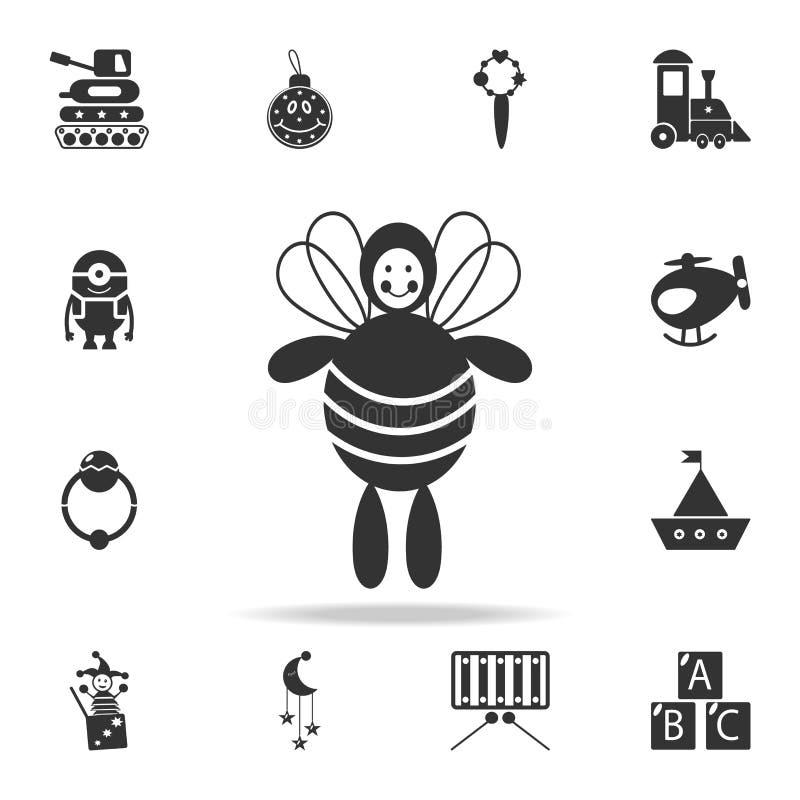 милый и нежный значок игрушки пчелы Детальный комплект младенца забавляется значки Наградной качественный графический дизайн Один иллюстрация штока