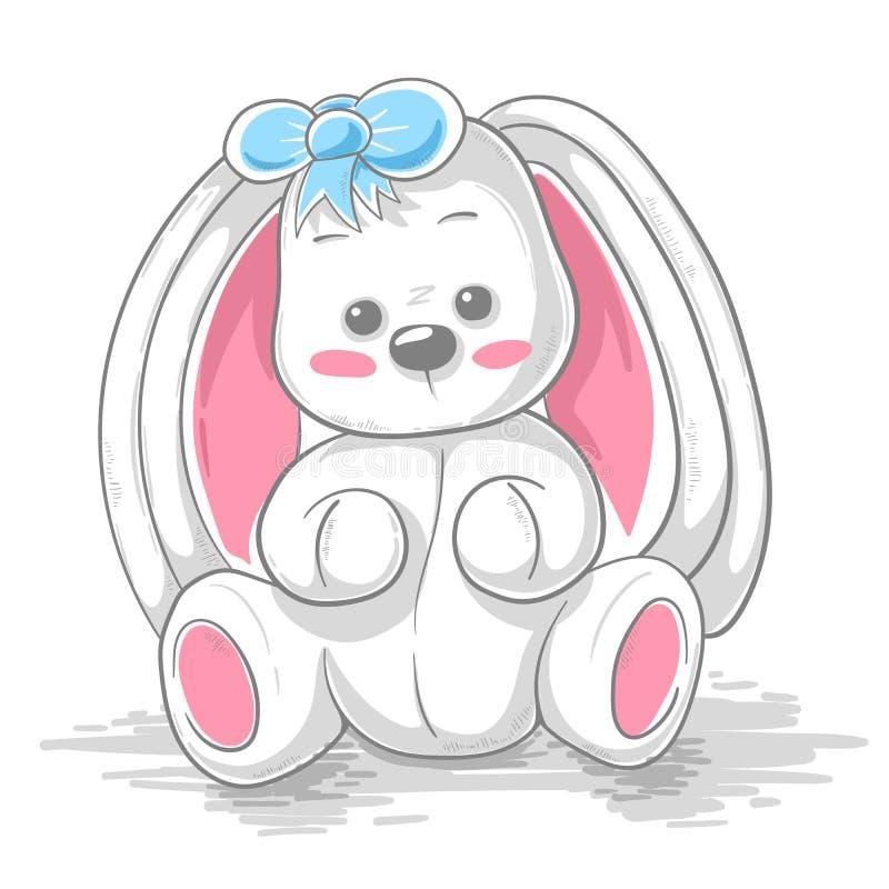Милый кролик игрушечного - иллюстрация мультфильма бесплатная иллюстрация