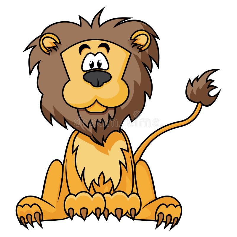 Милый лев иллюстрация штока