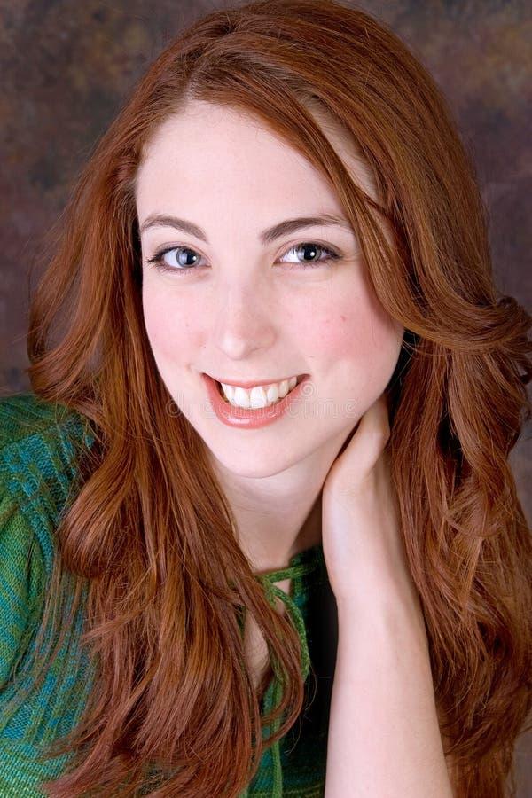 милый модельный redhead стоковые изображения rf