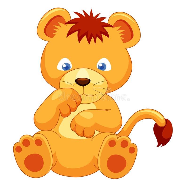 Милый новичок льва   бесплатная иллюстрация