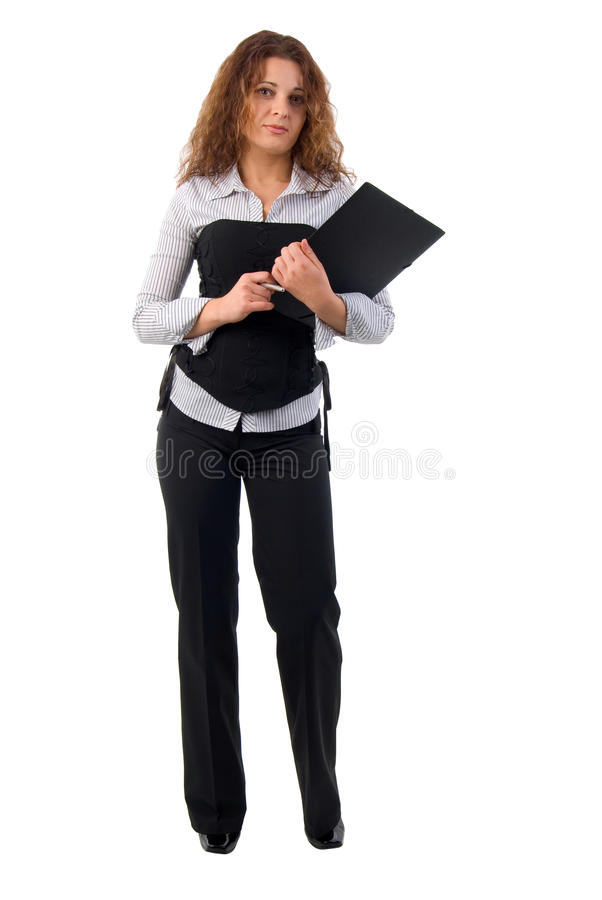 милый офис девушки документов стоковые изображения