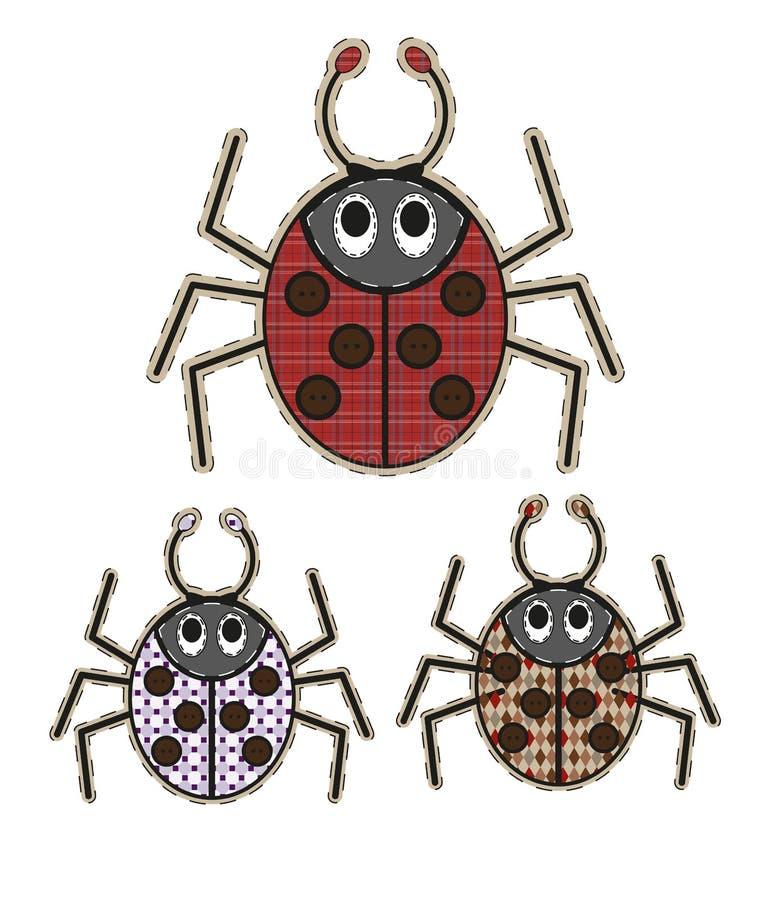 Милый паук шаржа в плоском дизайне для поздравительной открытки, приглашения и логотипа с текстурой ткани иллюстрация штока