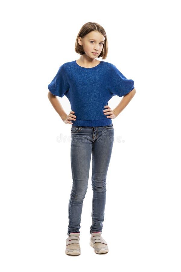 Милый предназначенный для подростков рост девушки полностью стоковые фотографии rf