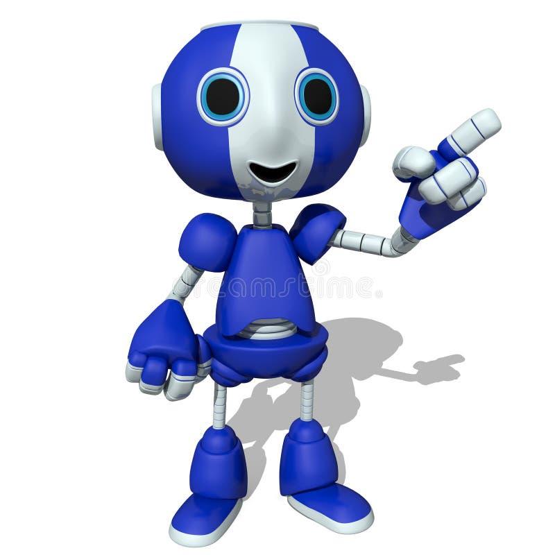 милый робот 3d иллюстрация вектора