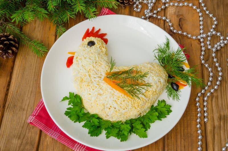Милый салат сформировал на праздник стоковая фотография