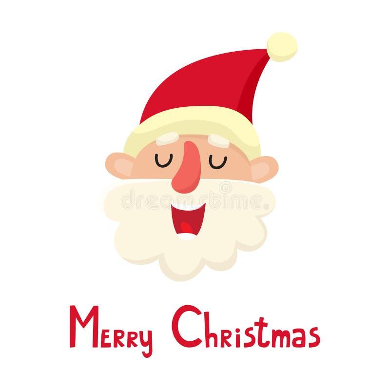 Милый Санта Клаус, иллюстрация вектора мультфильма изолированная на белой предпосылке бесплатная иллюстрация