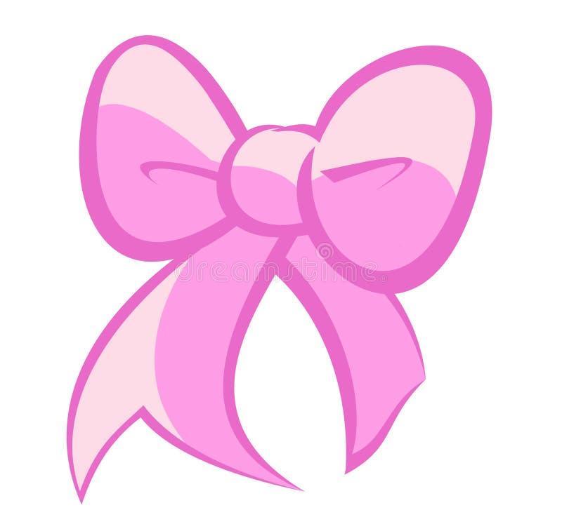 Милый светло-фиолетовый и розовый смычок бесплатная иллюстрация