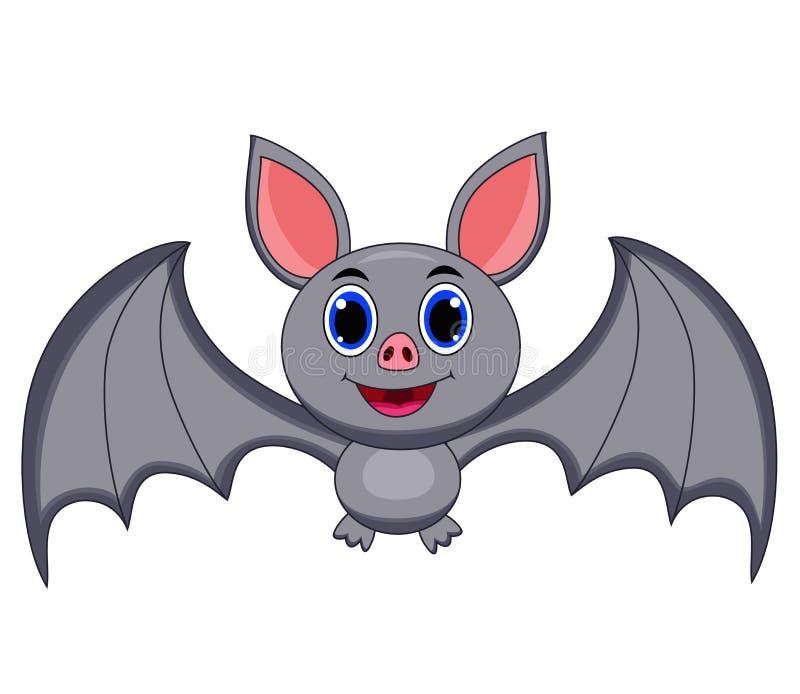 Милый серый мультфильм летучей мыши бесплатная иллюстрация