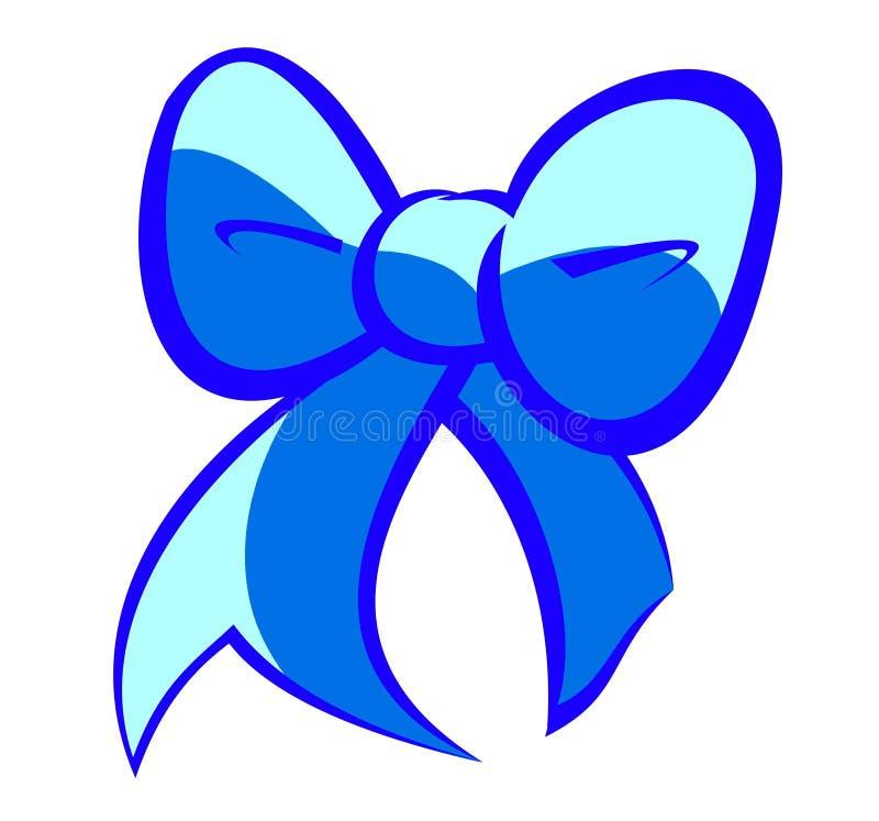 Милый синий смычок иллюстрация штока