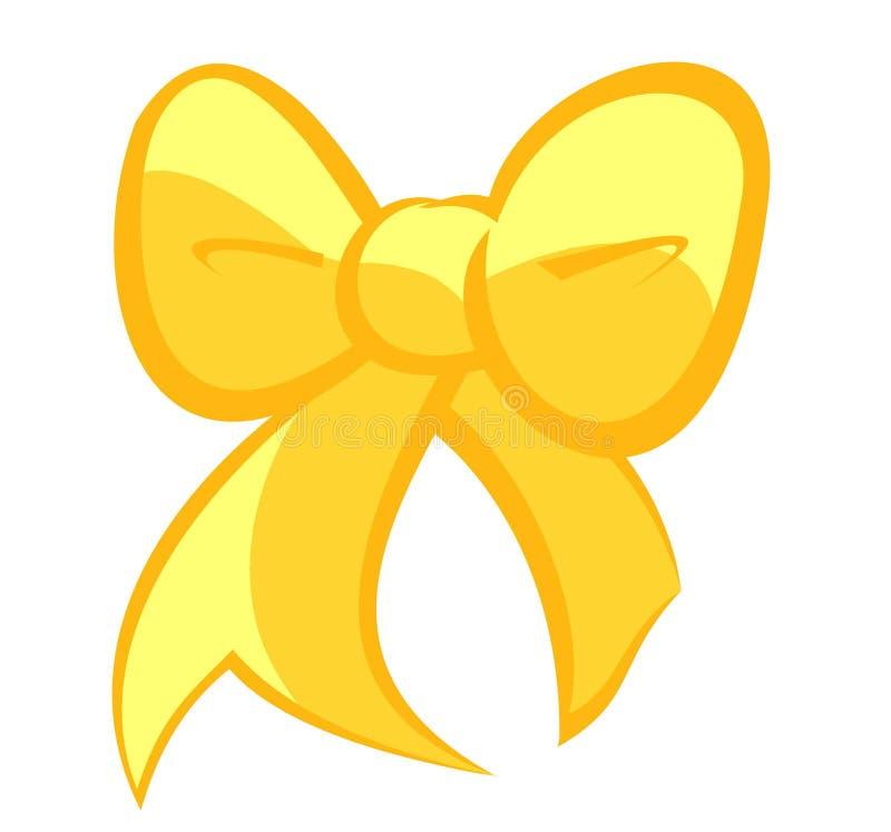Милый смычок желтого цвета соломы иллюстрация вектора