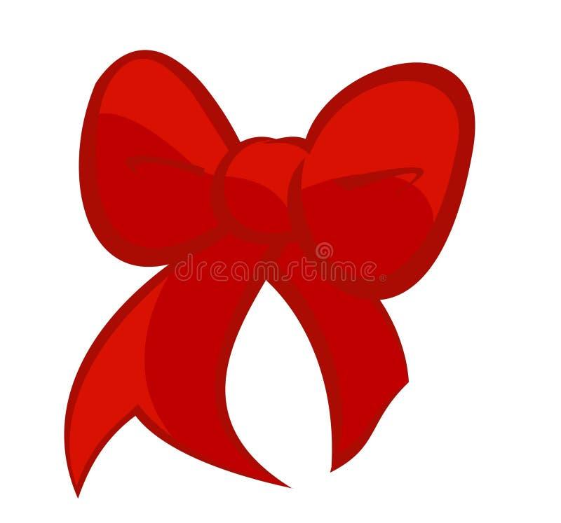 Милый смычок красного цвета вишни иллюстрация штока