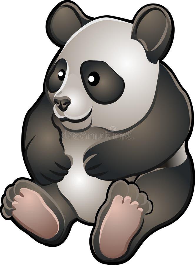милый содружественный больной вектор панды иллюстрация штока
