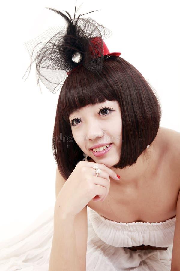 милый стиль причёсок девушки славный стоковая фотография rf
