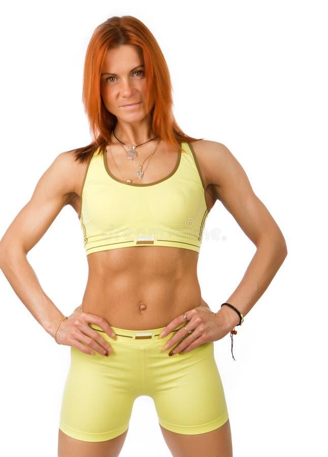 милый счастливый sportswoman изображения стоковое фото rf