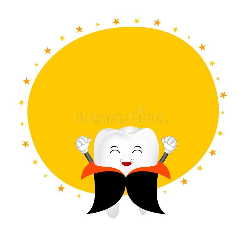 Милый характер зуба шаржа Дракула бесплатная иллюстрация