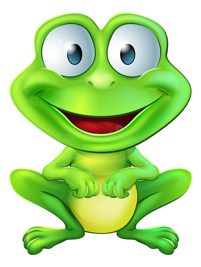 Милый характер лягушки иллюстрация вектора