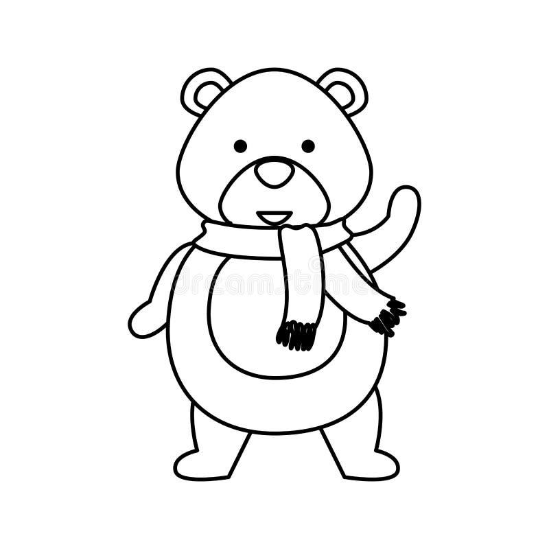 Милый характер рождества полярного медведя иллюстрация штока