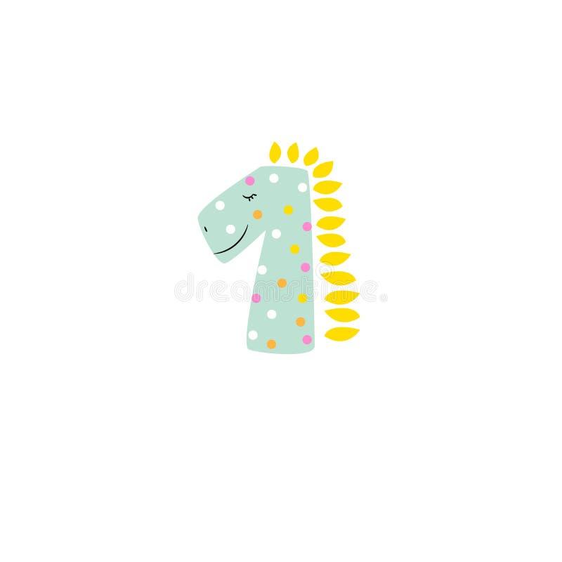 Милый шаблон логотипа дизайна мультфильма детей карты dino иллюстрация вектора