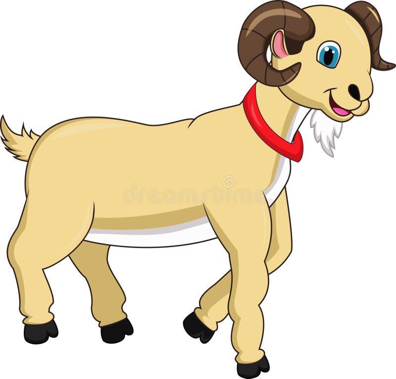 Милый шарж козы иллюстрация штока