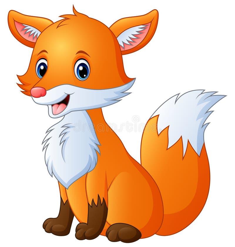 Милый шарж лисы бесплатная иллюстрация