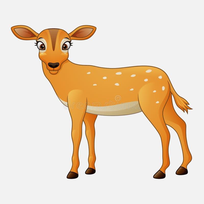 Милый шарж оленей иллюстрация штока