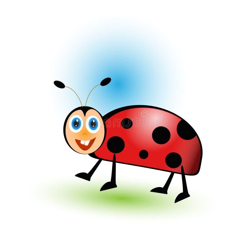 Милый шарж ladybug иллюстрация штока