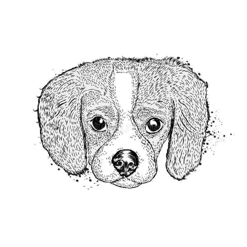 милый щенок Иллюстрация вектора для открыток или плакатов Очаровательная собака иллюстрация вектора