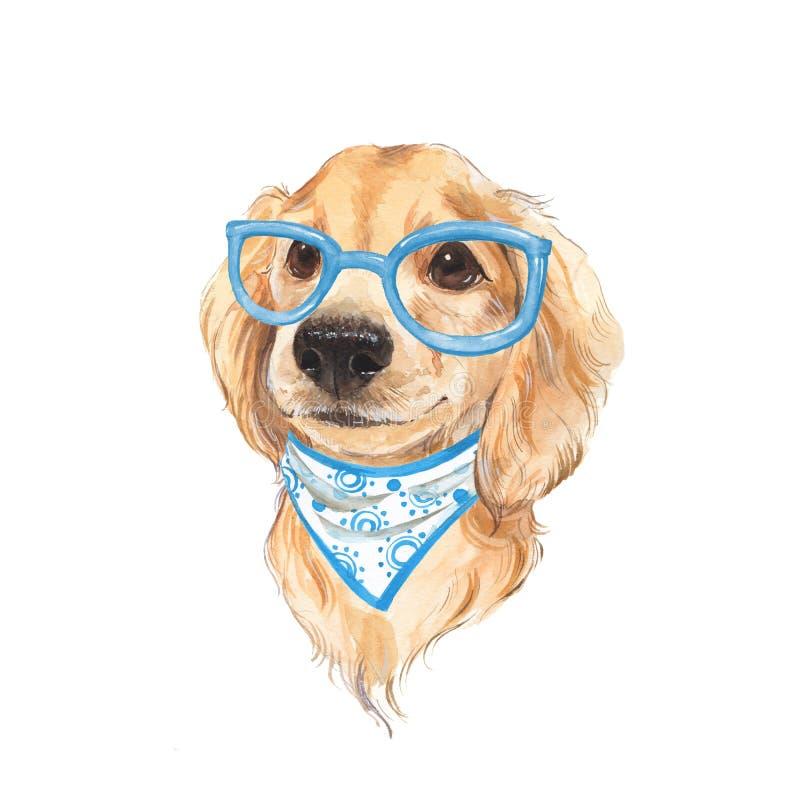 Милый эскиз собаки изображение иллюстрации летания клюва декоративное своя бумажная акварель ласточки части бесплатная иллюстрация