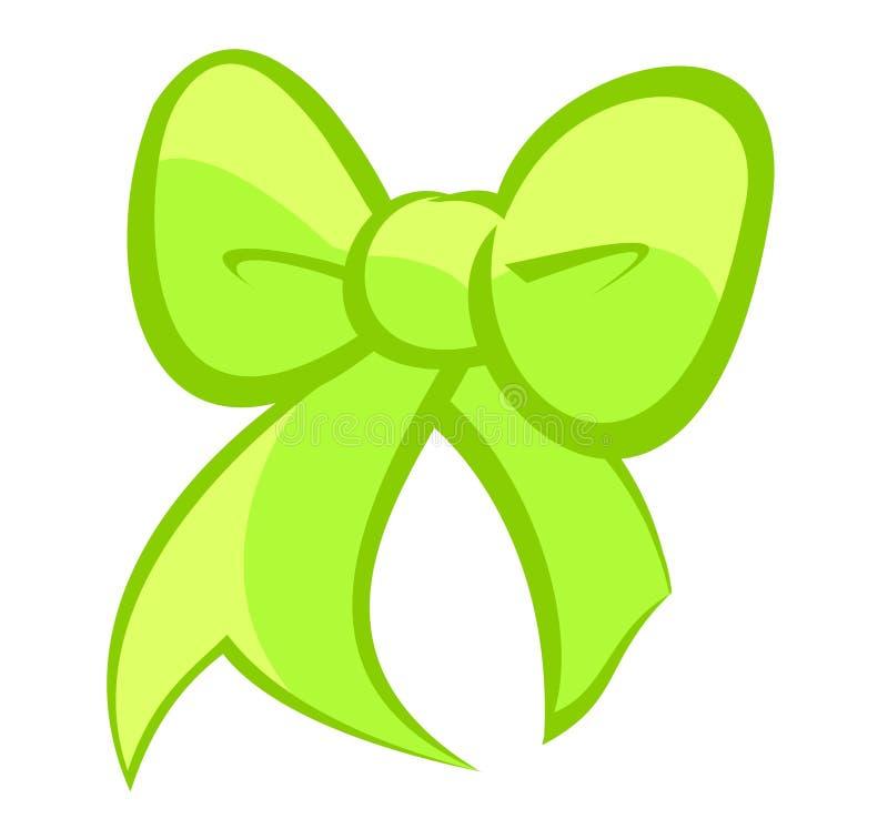 Милый яркий электрический зеленый и светлый смычок цитрона иллюстрация штока