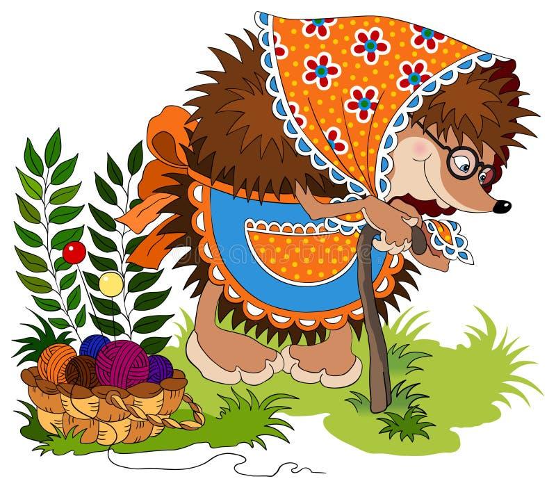 милый hedgehog иллюстрация штока