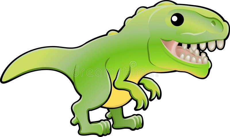 милый tyrannosaurus rex dinosau иллюстрация вектора