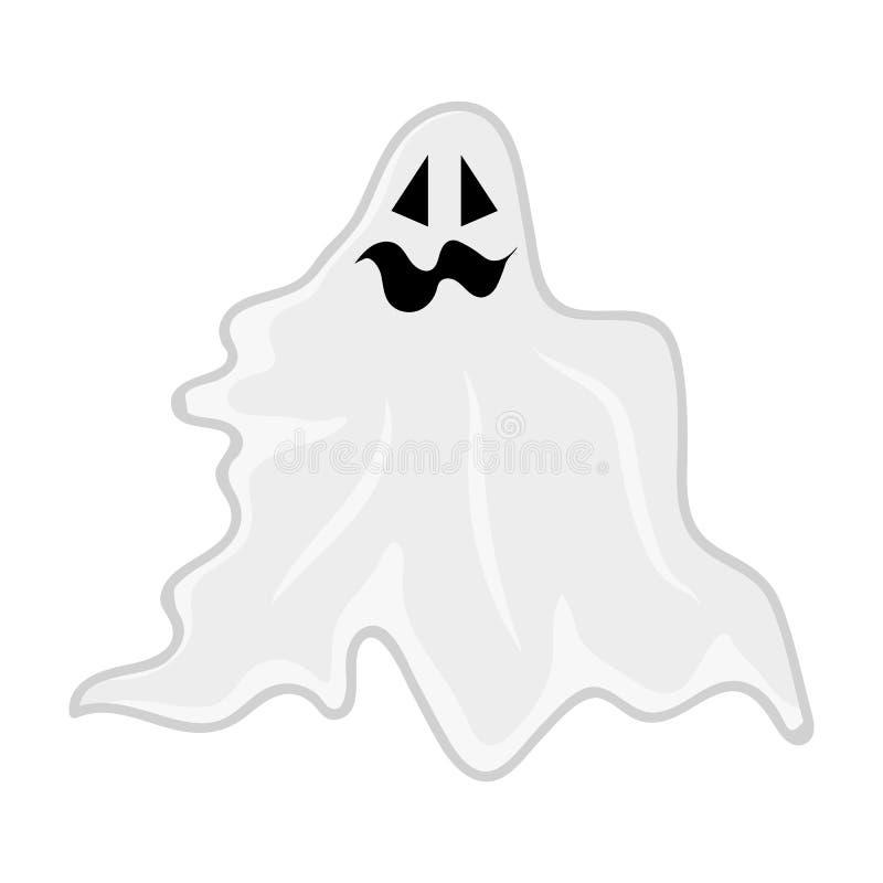 Милым иллюстрация изолированная призраком иллюстрация вектора