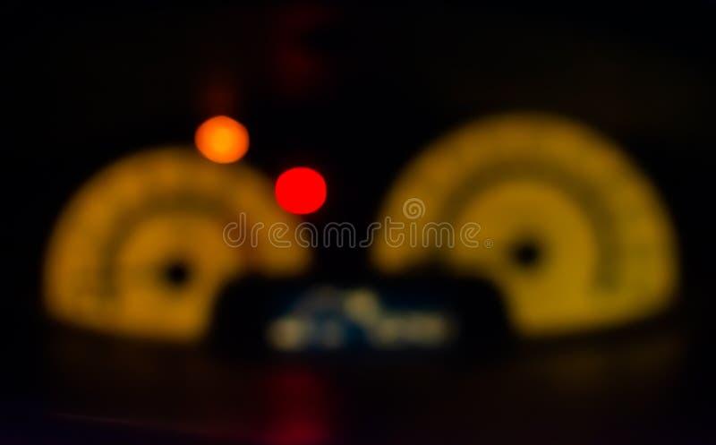Миля скорости нерезкости в автомобиле стоковые фотографии rf
