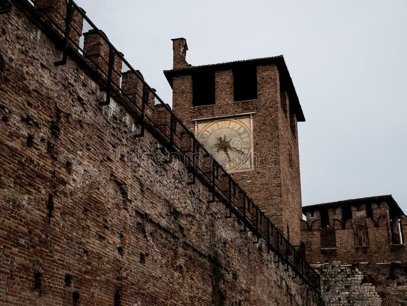 Мимолетные взгляды дворцов в Вероне стоковые фото