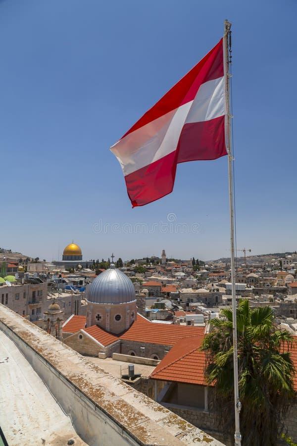 минарета Иерусалима города стена внешнего старая стоковые изображения rf