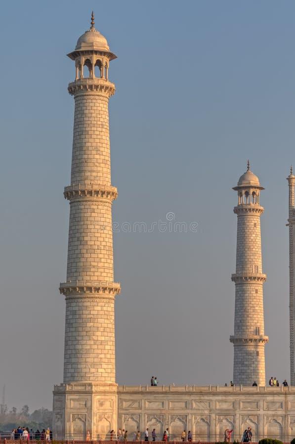Минареты Тадж-Махала, Индия стоковое изображение rf