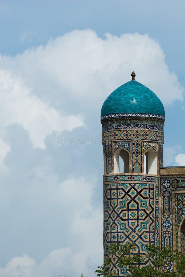 Минареты Registan, Самарканд стоковое фото rf