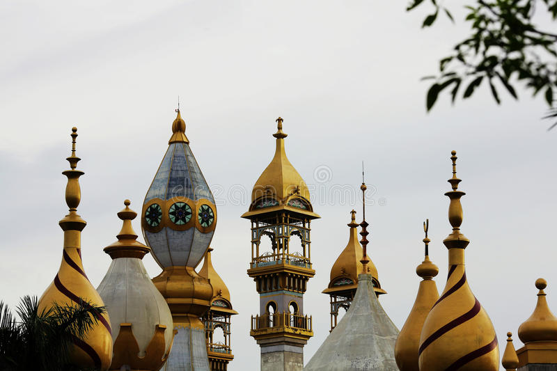 Минарет ислама, шпиль стоковая фотография rf