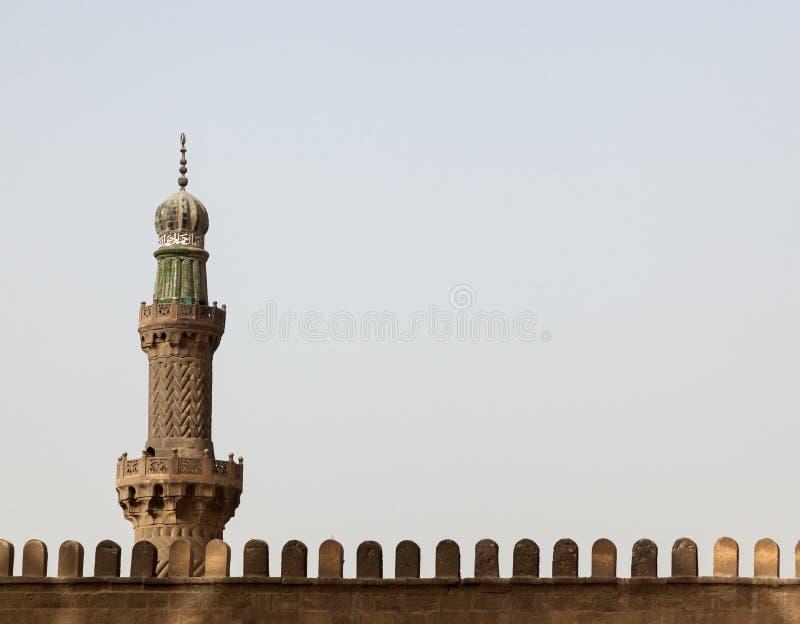 Минарет на цитадели Каире Египте мечети алебастра стоковая фотография