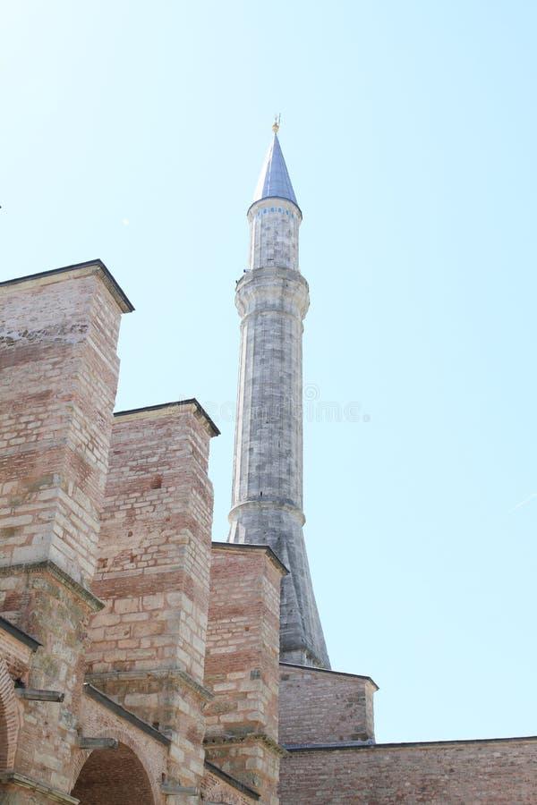 Минарет Hagia Софии в Стамбуле стоковое фото rf