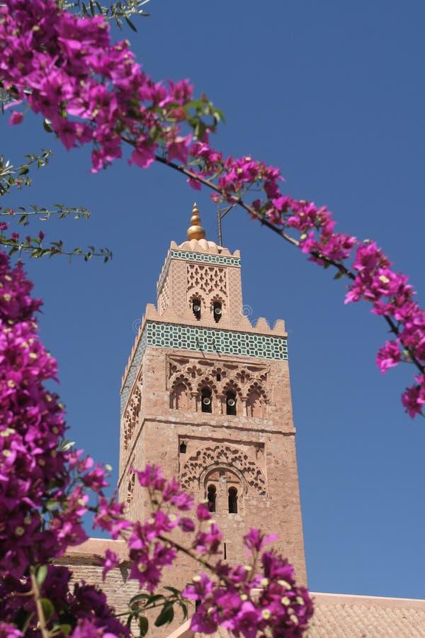 минарет marrakesh koutoubia стоковое фото rf